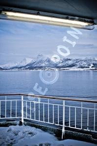 Vue du pont de l'Hurtigruten.